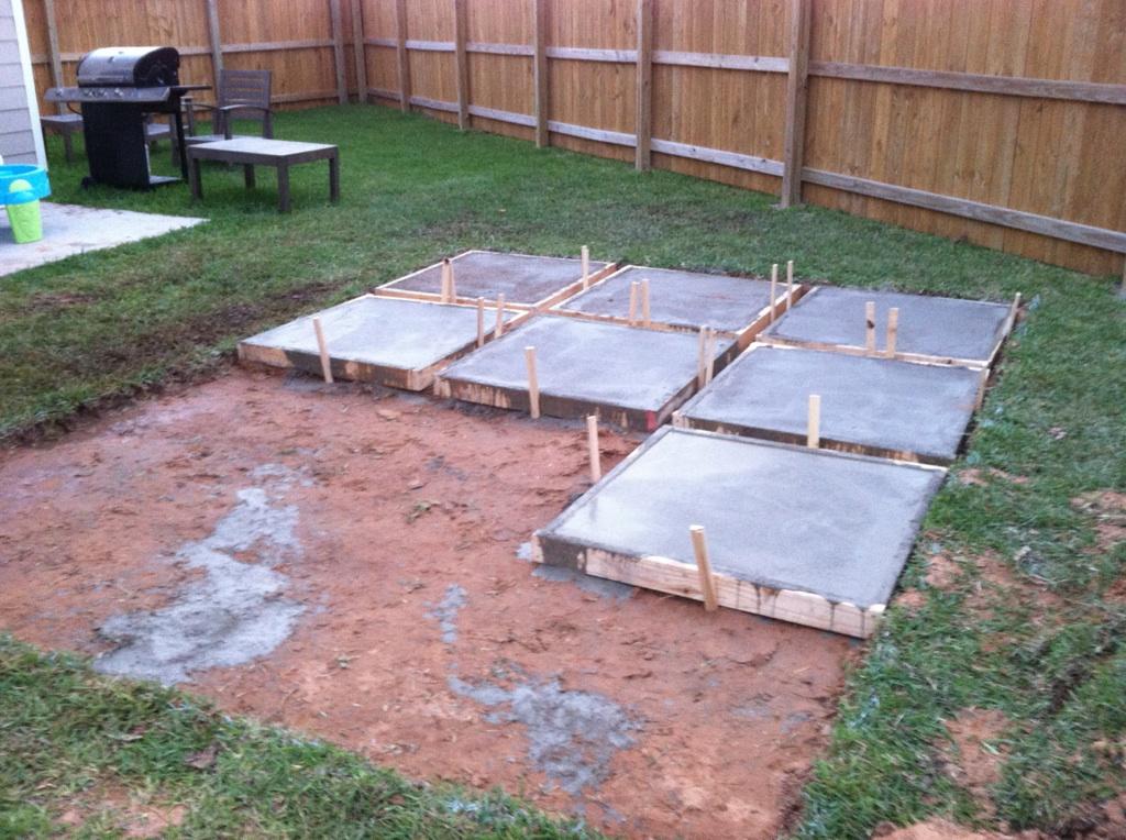 A Roll-Acosta Life: DIY: Backyard Patio Part 2 on Diy Backyard Patio Cheap  id=52807