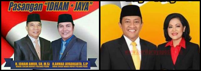 Dua pasang calon Bupati dan wakil Bupati Kabupaten Pulang Pisau 2018