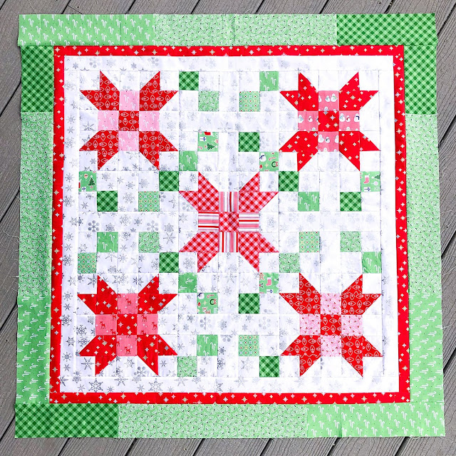 Penelope quilt and table topper by Ameroonie Designs found on A Bright Corner - pattern from the Fresh Fat Quarter Quilts Book by Andy Knowlton