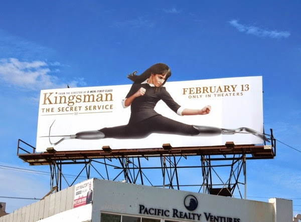 Kingsman Secret Service special extension movie billboard