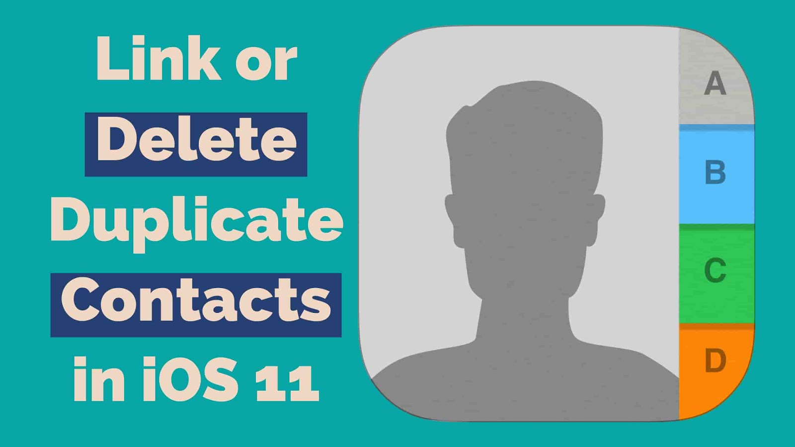 In this case, either you need to delete your duplicates contact one by one or link all your duplicates contacts with only one contact. Here's how to delete or link duplicates contacts in iOS 11.