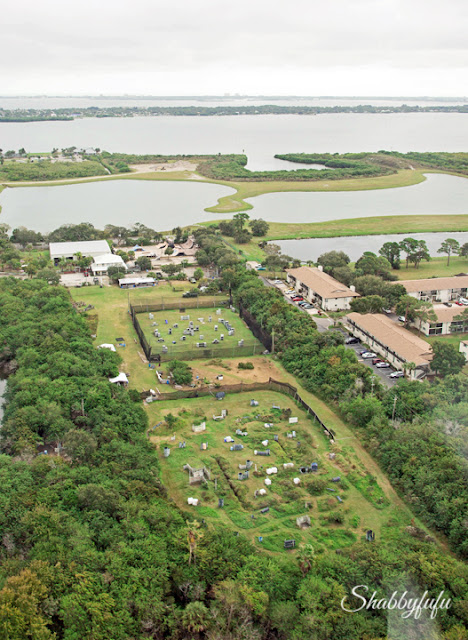 Arial view of the HGTV Dream Home 2016 neighborhood from a helicopter.