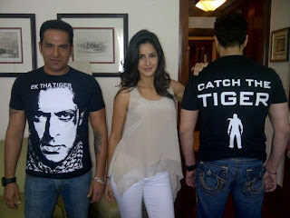 Salman and Katrina at Chat Show to promote their film Ek Tha Tiger