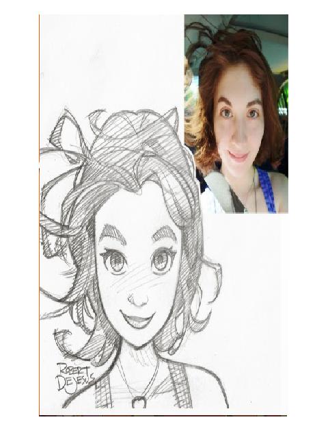 Arte no Papel, Pessoas desenhadas como se fossem animes