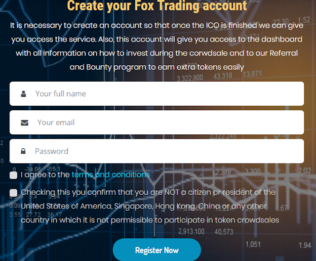 Register account and claim your FXT Token