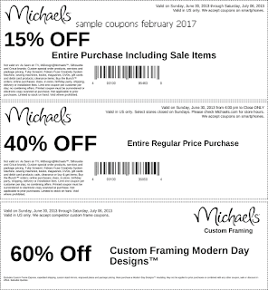 Michaels coupons february