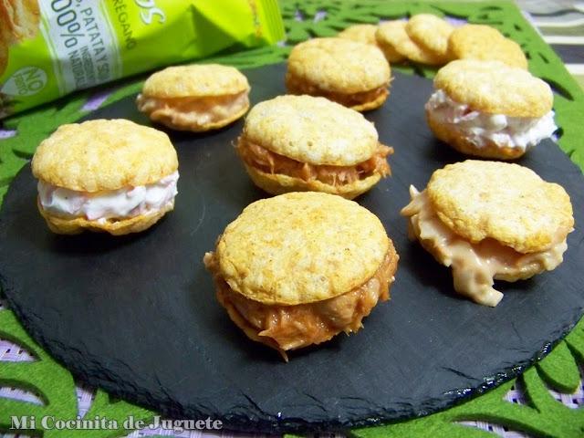 macarons salados rellenos snatts natuchips