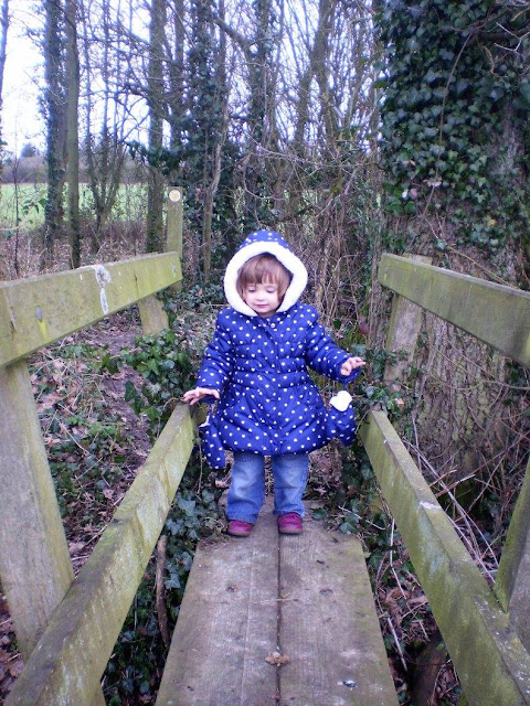 Eldest stood on one of many bridges along the way