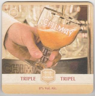 sous-bock de la bière trappiste belge Chimay