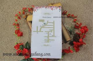 undangan gulung + jasmin + cetak warna