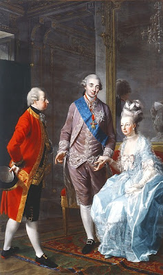Portrait of Archduke Maximilian, Louis XVI and Marie Antoinette by Joseph Hauzinger, 1776