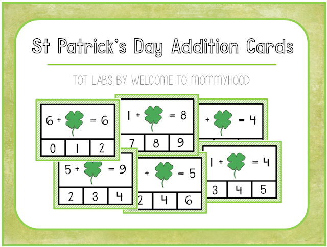St Patrick's Day Missing Number Clip Cards by Welcome to Mommyhood #stpatricksday #montessori #handsonlearning