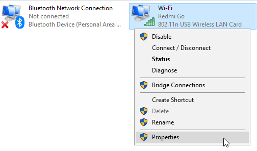 Fix Android Wi-Fi Hotspot Connected But No Internet in Windows 10