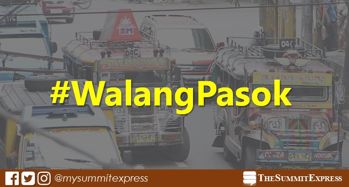 #WalangPasok: Class suspensions on Monday, October 16, 2017
