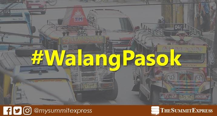 #WalangPasok: Class suspensions on Monday, October 16, 2017