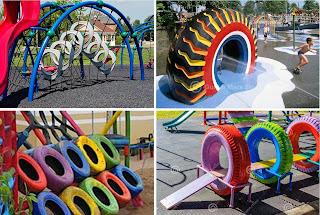 fasilitas-play-ground-dari-ban-bekas