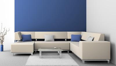 sofa tamu putih cantik