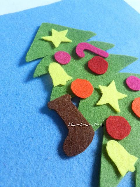 || Activité/DIY : Tableau en feutrine, le sapin de Noël