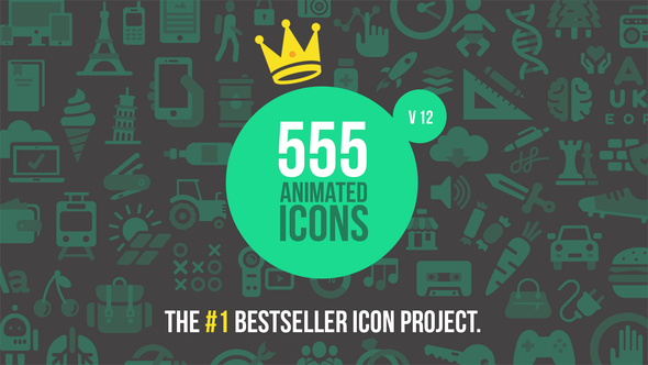 555 Animated Icons 5586340  Videohive