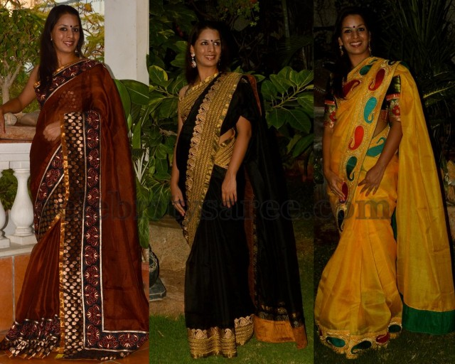 e87d9f4037536 Designer Rich Kota Silk Sarees - Saree Blouse Patterns