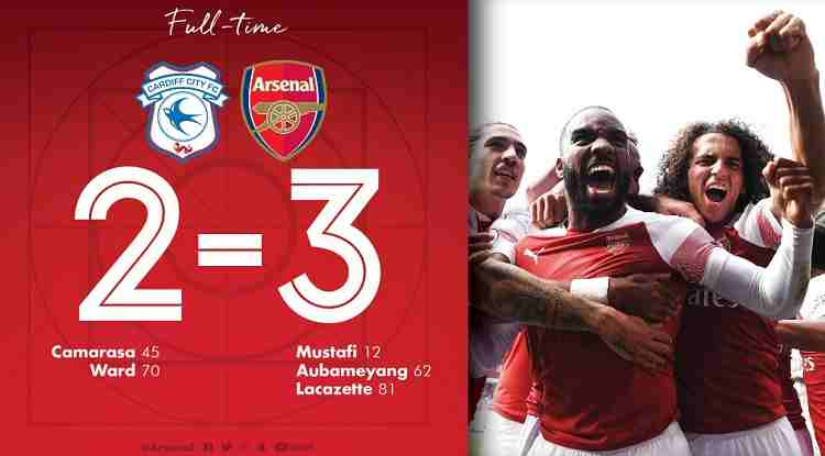 Hasil Cardiff City vs Arsenal Skor Akhir 2-3 [Premier League 2018]