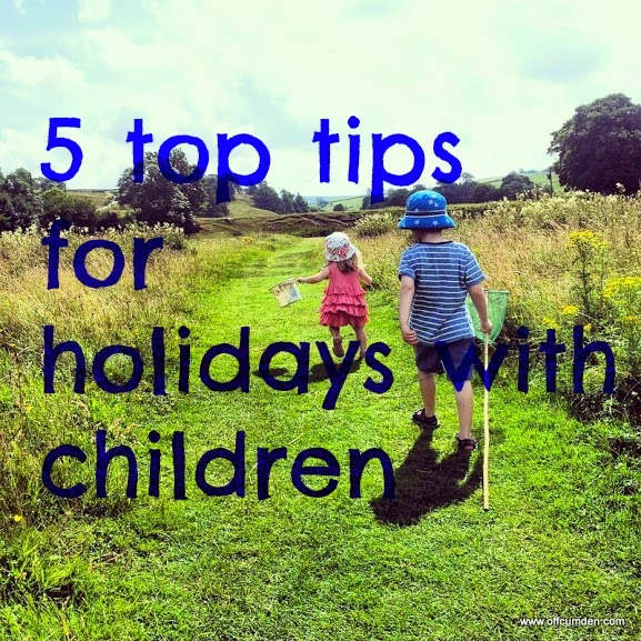 Five top tips for holidays with children