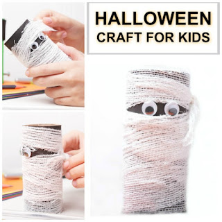 FUN KID PROJECT:  Make cardboard tube mummies!