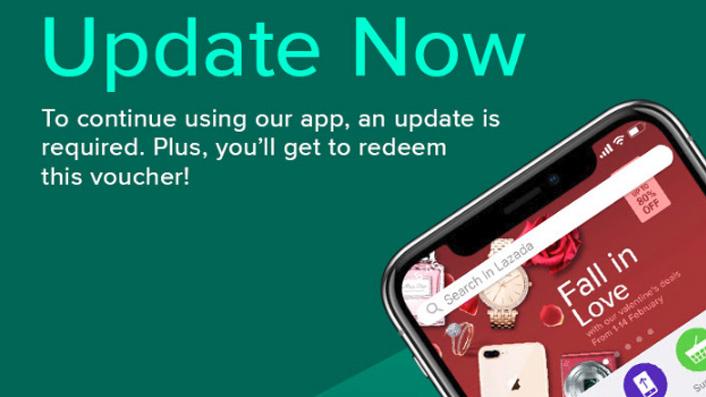 Update Lazada App dapat kod baucer diskaun 15%