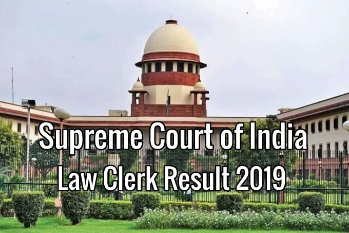 Supreme Court Law Clerk Result 2019