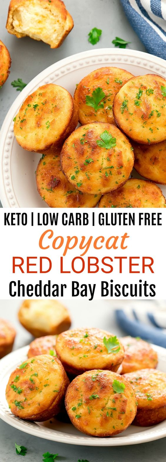 KETO COPYCAT RED LOBSTER CHEDDAR BAY BISCUITS