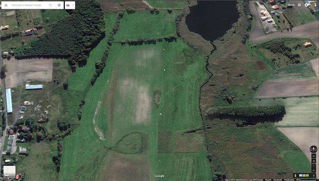 Grodzisko Pawłowice k. Kiekrza - zdjęcie satelitarne rozwiezionego obiektu