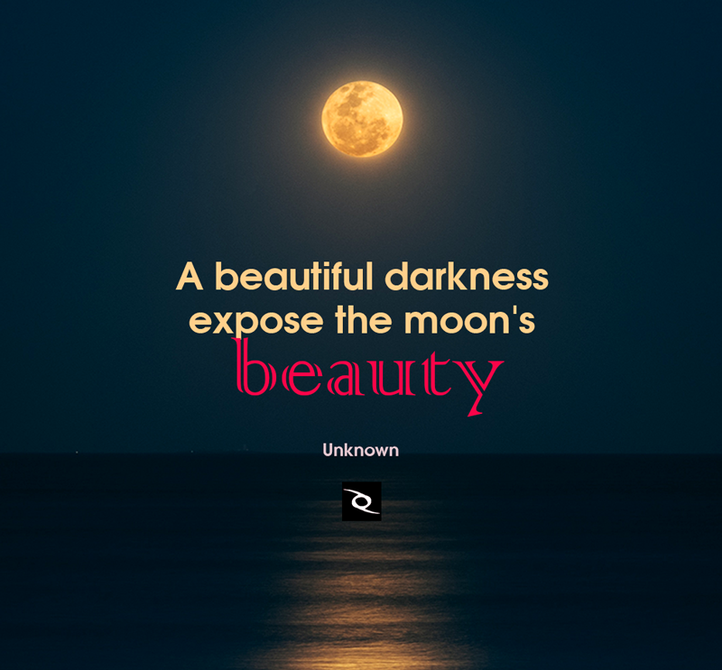 A Beautiful Darkness Expose The Moons Beauty Creative Quotes