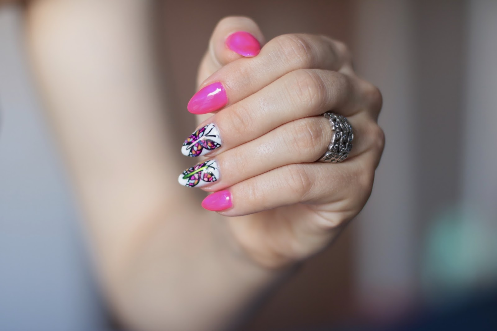 Summer Butterfly Nails - Witrażowe Motyle
