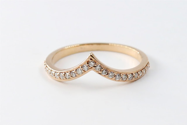 Petite Chevron Diamond Ring. Rs. 14,585