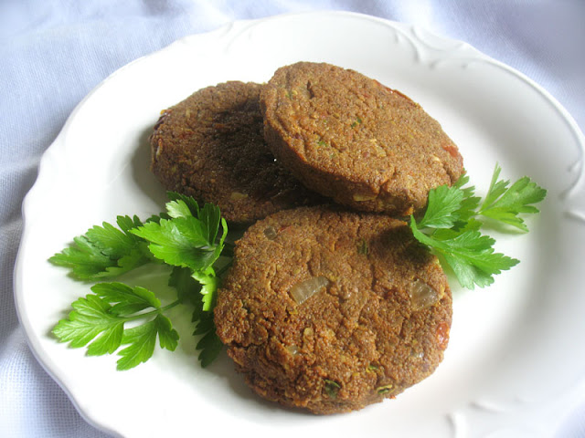 spiced teff patties