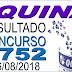 Resultado da Quina concurso 4752 (16/08/2018)