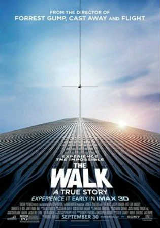Poster of The Walk 2015 BRRip 720p Dual Audio 1Gb Worldfree4u