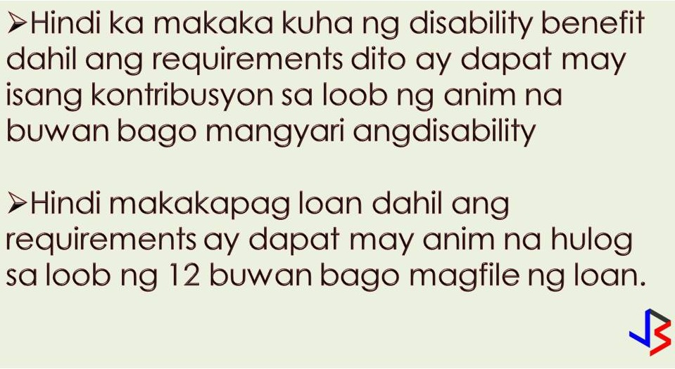 Often times this question comes from voluntary members of Social Security System (SSS). Those who are self-employed and some Overseas Filipino Workers (OFWs) who paid their own membership without a share from their companies. According to SSS, when a member completes a 120-month contribution, that is equivalent to 10 years, the member is entitled to retirement pension at the age of 60. Even members who did not complete or contributed less than 120 months are also entitled to lump sum pension.  But the question is, is 120 months contribution good enough? The answer is no and this is not advisable. A member who contributed at least 120 months is qualified for a pension at 60 years old but ceasing your SSS contribution means the following;  1. You cannot avail of sickness and maternity benefit. A member should have at least three contributions in a year before the semester of sickness, maternity or miscarriage.  2. You cannot avail of disability benefit because a basic requirement to this is at least one contribution in six months before the disability.  3. You cannot avail of a loan. SSS members should have at least six contributions in a year before it can file for a loan.  One of the most beneficial benefits of continuing your SSS contribution is, you will be getting a bigger amount of your retirement pension. Always remember that the computation of your pension will include the number of years your SSS contributions. SSS is a good preparation for your future. Paying much higher contribution means an increase in your pension someday. You can also apply to the SSS PESO Fund to increase your allowance or SSS Flexi Fund if you are OFW.