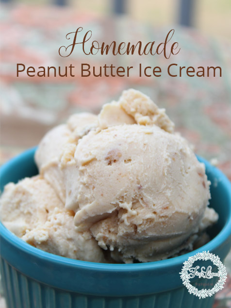 Homemade Peanut Butter Ice Cream
