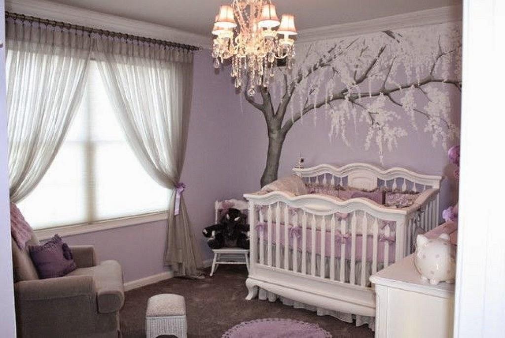 Habitaciones de bebé en gris y morado - Dormitorios ...
