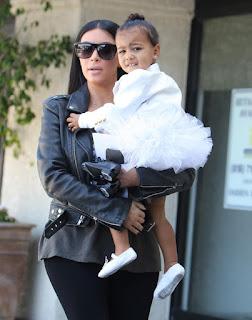 Kim kardashian and Daughter West