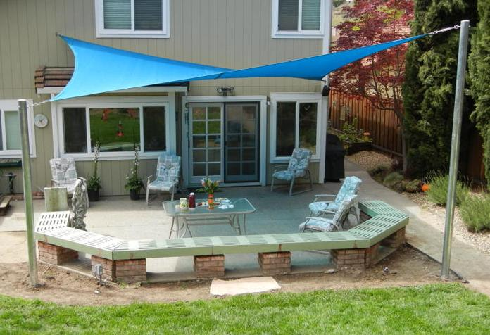 The 2 Minute Gardener: Garden Elements - Shade Sails on Shade Sail Backyard Ideas id=36491