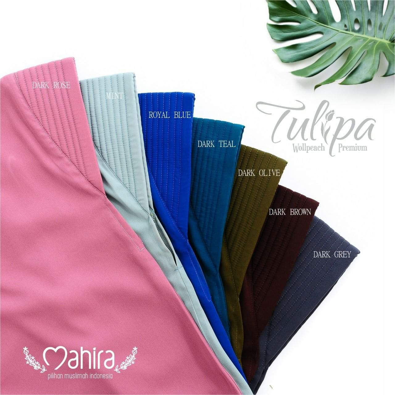 Mahira Tulipa Wollpeach Premium Royal Blue, Dark Teal, Dark Olive, Dark Brown, Dark Grey