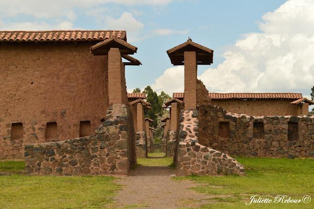 Ruines incas au Pérou à Raqchi