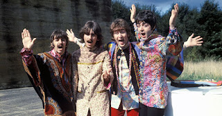 The Beatles during their Magical Mystery Tour | Wikimedia Commons [Attribution 3.0 Unported (CC BY 3.0)]