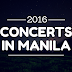 List of concerts in Manila 2016