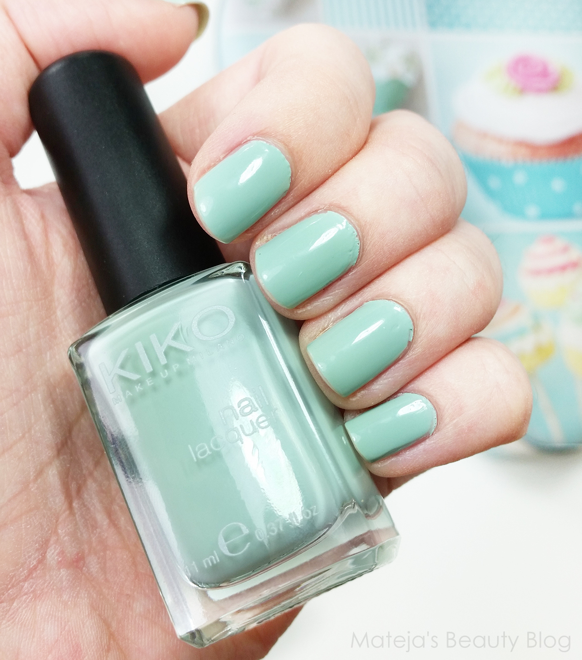 Kiko Nail Lacquer 345 Jade Green - Mateja\'s Beauty Blog