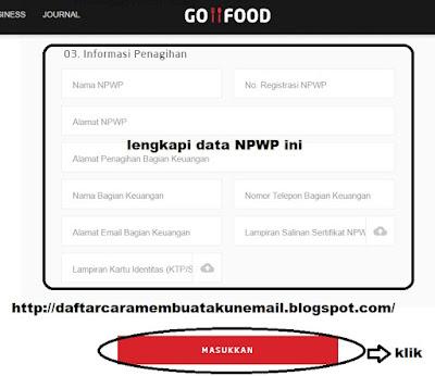 syarat daftar go food