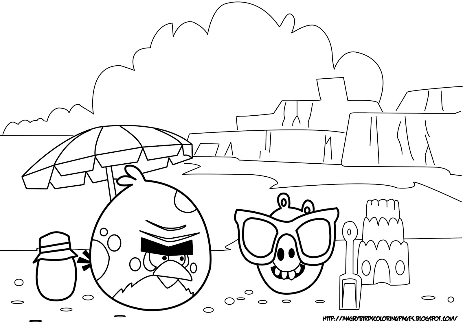 angry bird colouring pages page 3