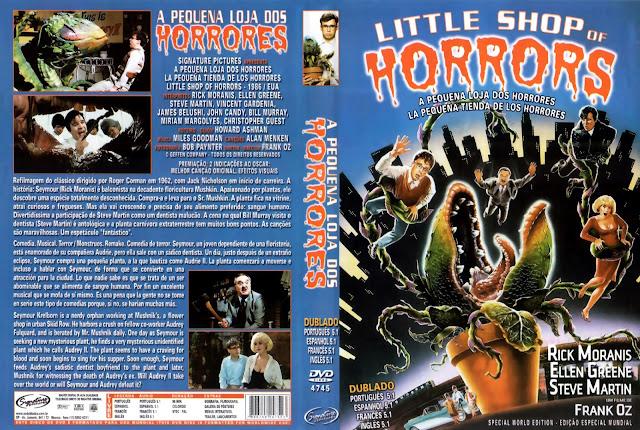 Capa DVD A Pequena Loja dos Horrores